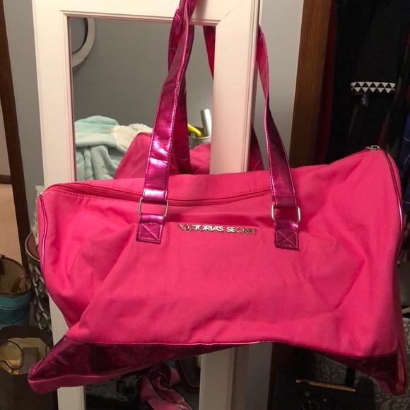PINK Victoria s Secret Bags   Victoria Secret Hot Pink Duffle Bag ... d20755ca96